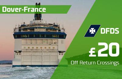 Zaoszczędź £20 na Dover-France Return Crossings
