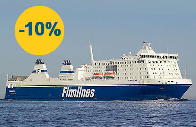 10% zniżki na wszystkie trasy Finnlines!