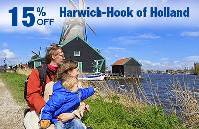 Harwich-Hook of Holland: 15% zniżki na bilety, posiłki i kabiny!